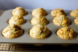 Carrot and tahini muffins
