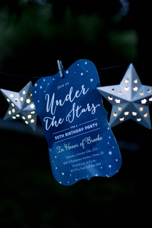 Under The Stars Birthday Celebration Twinkle Twinkle