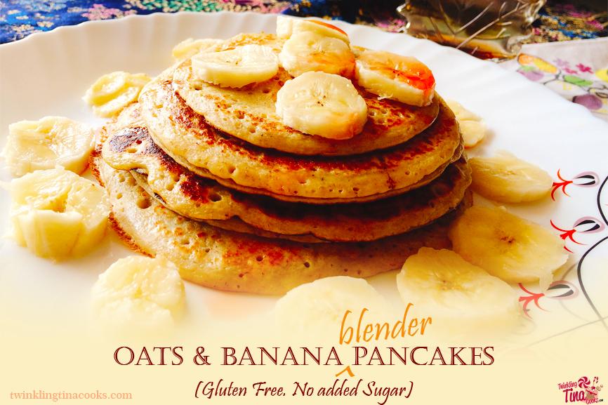 oats and banana blender pancake