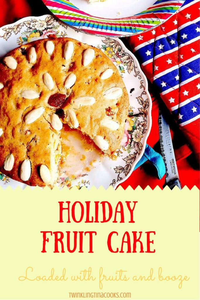 How to make holiday christmas fruit cake easy baking recipe
