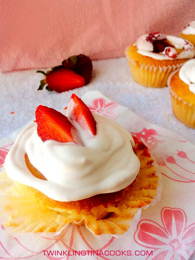 Strawberry Center Filled Cupcake