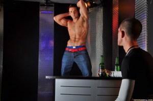 Trystan Bull puts on a strip dance for Dylan Cross (TrystanBull.com)