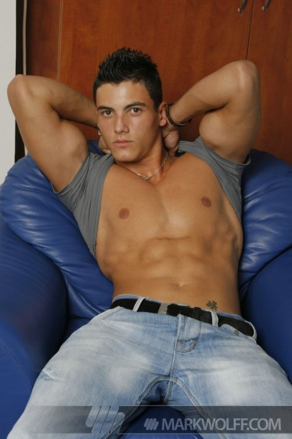 Alex Price shows off his hot bod (Mark Wolff)