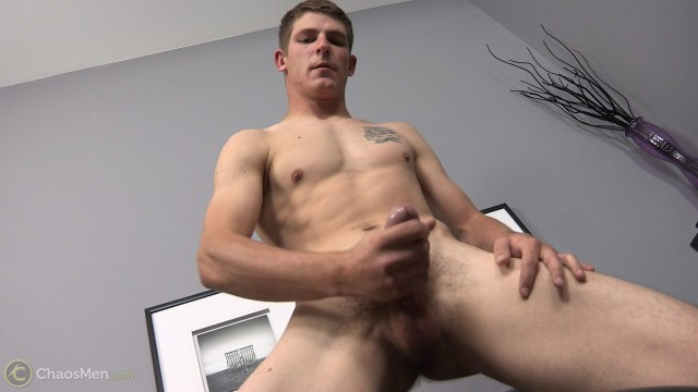 Straight cutie Byron blows a load after precumming a lot! (Chaos Men)