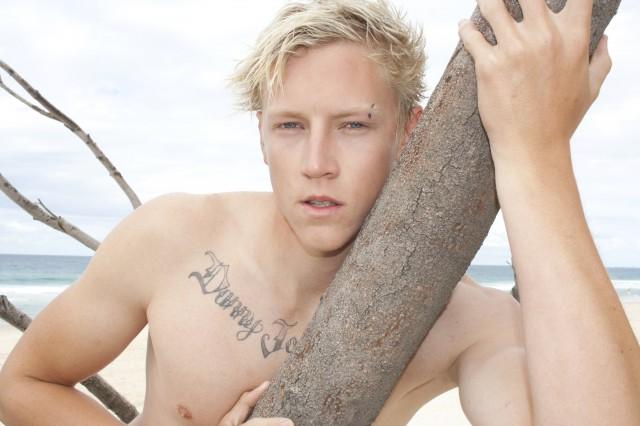 Blond Jake has a grower! (All Australian Boys)