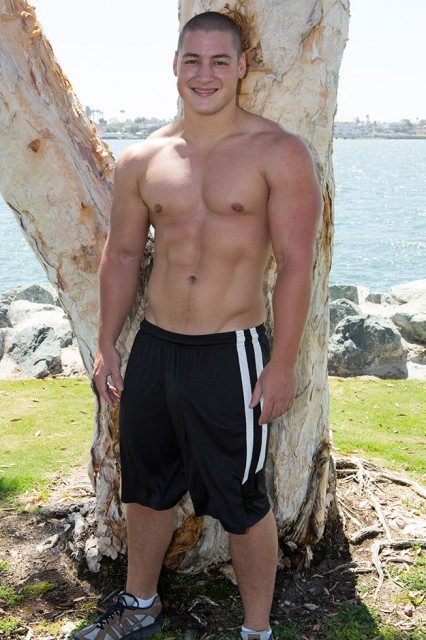 Forrest is quite the beefy stud! (Sean Cody)
