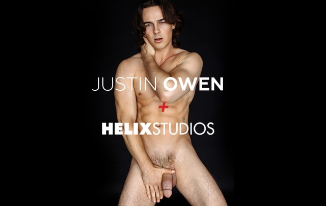 We have some huge news about hottie Justin Owen. (Helix Studios)