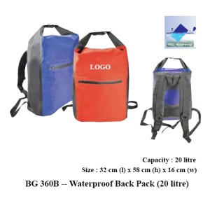 BG 360B -- Waterproof Back Pack (20 litre)