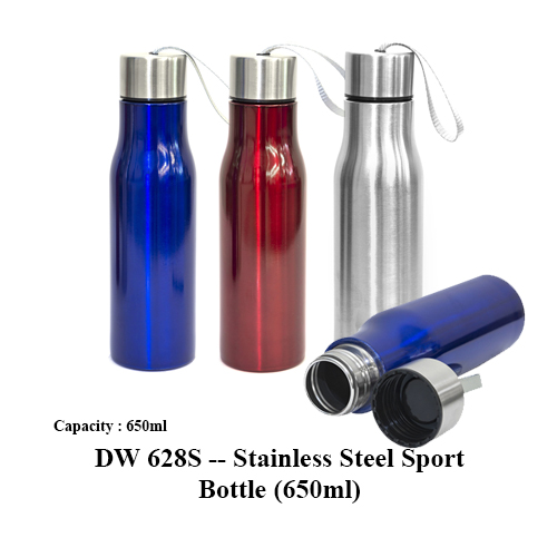 DW 628S — Stainless Steel Sport Bottle (650ml)