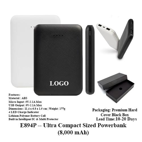 E894P — Ultra Compact Sized Powerbank (8,000 mAh)