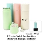 ET 140 -- Stylish Bamboo Glass Bottle with Handphone Holder
