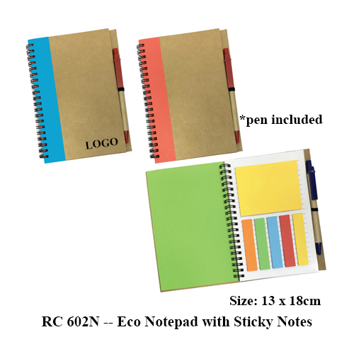 RC 602N — Eco Notepad with Sticky Notes