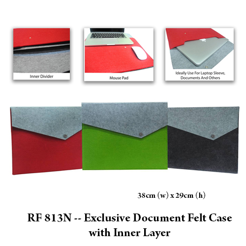 RF 813N — Exclusive Document Felt Case with Inner Layer