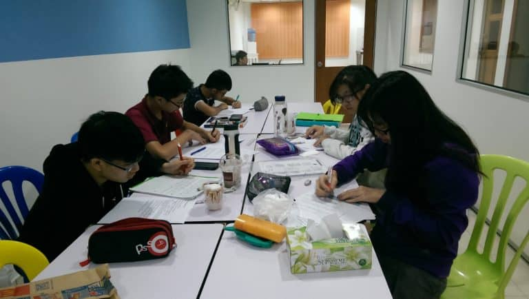 these are Malaysia igcse students tuition studying and practicing their igcse mathematics past year papers exam in this igcse centre tuition in subang jaya usj some of them are from shah alam puchong ara damansara and putra heights these are students are a combination of students from international school and homeschool in Malaysia they are taking all subjects which includes accounting biology business studies chemistry economics English first language English second language additional maths mathematics and physics some of them are also considering to take Anglia English tuition here in this igcse centre twins education too