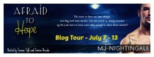 Afraid to Hope Blog Tour Banner