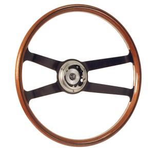 901 Wood Rim Steering Wheel 400mm-0