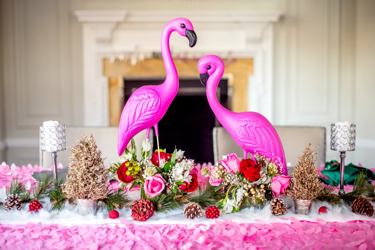jingle and flamingle holiday party