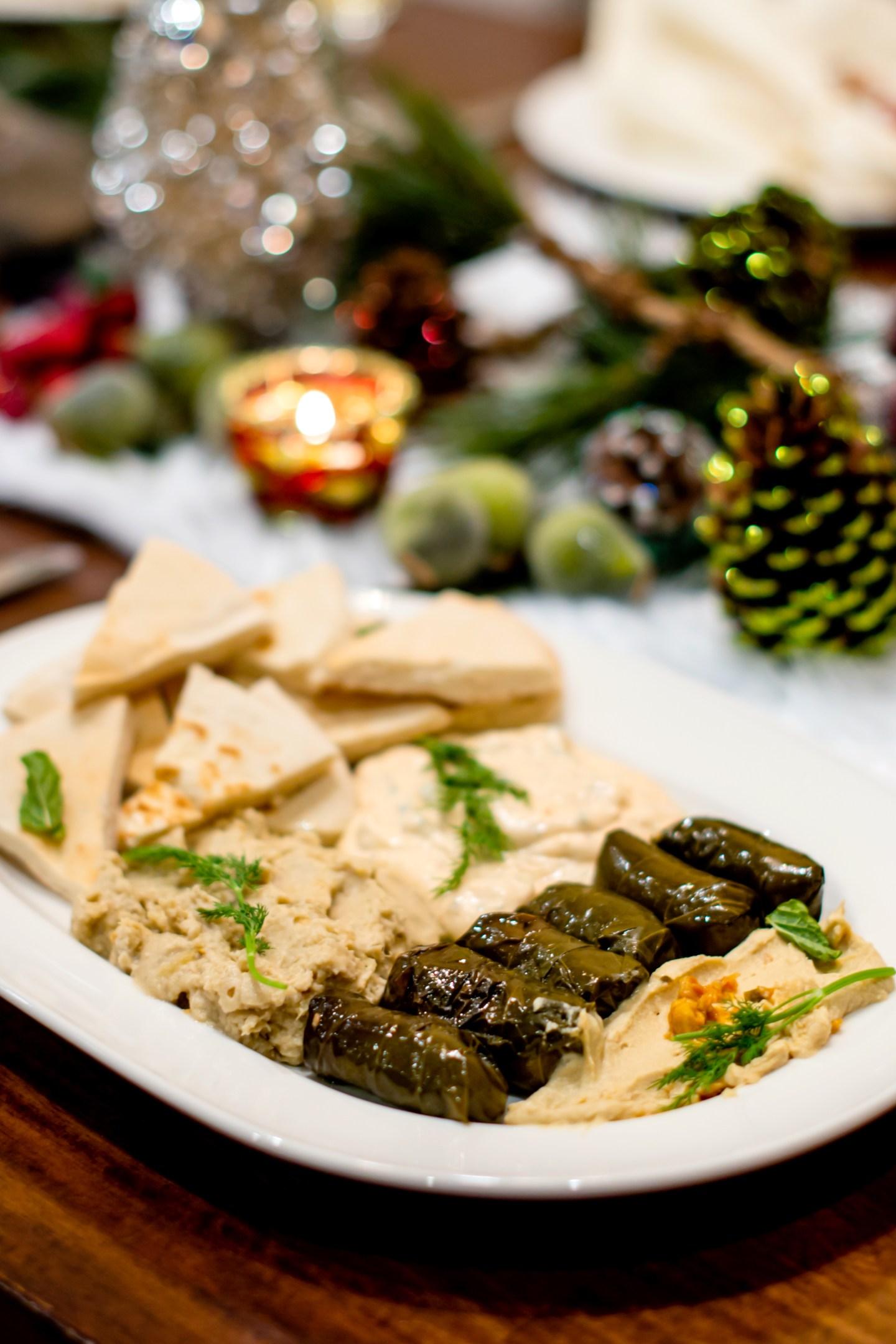 Christmas meze platter