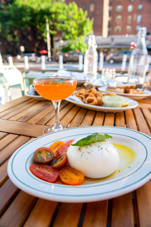 Rosemary's East – Burrata, Calamari, Eggplant Caponata. Best Restaurants in StuyTown
