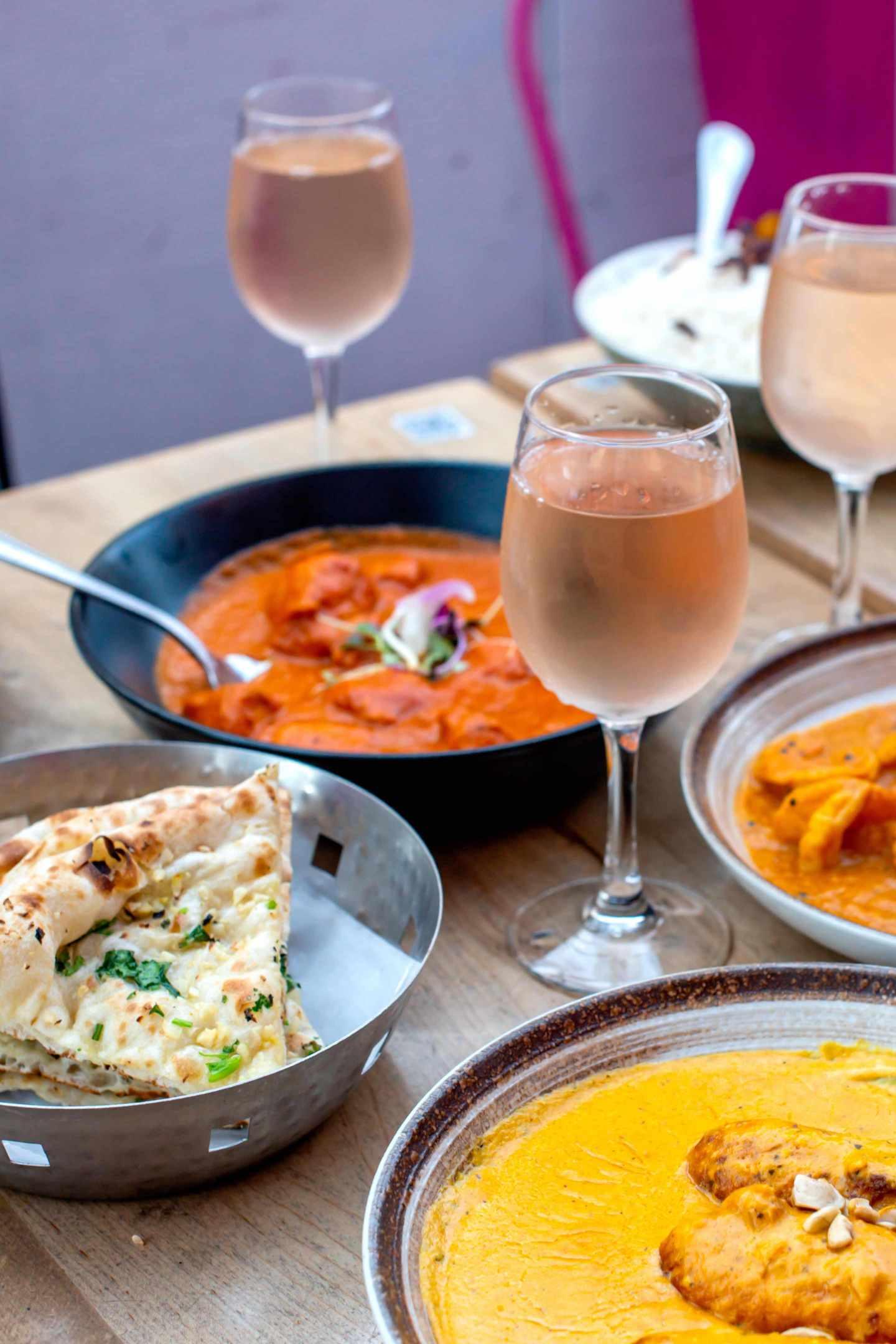 Badshah Butter Chicken, Shrimp, Kofta and Garlic Naan. Best Indian Restaurants in Hell's Kitchen. Badshah.