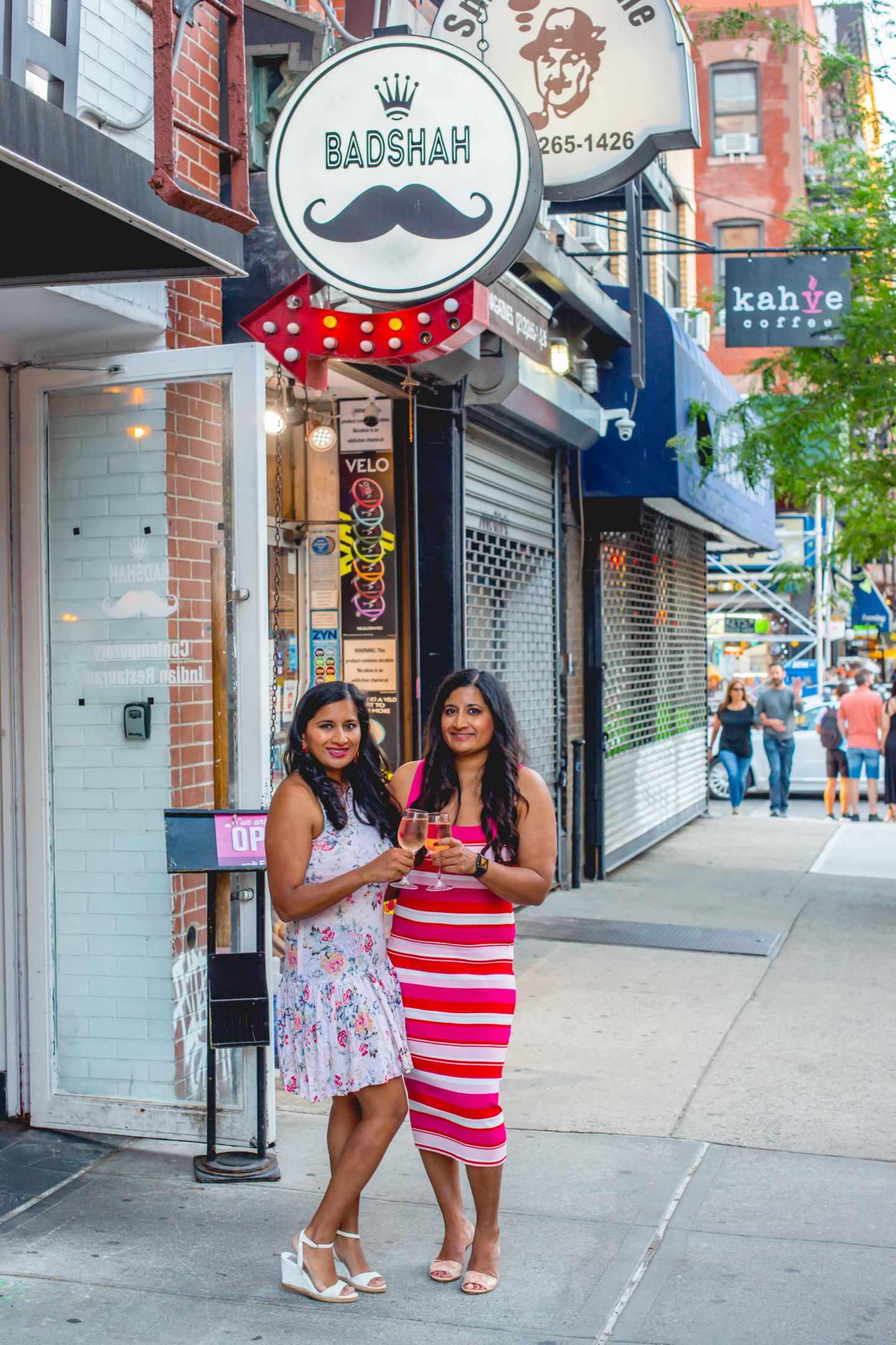 Women at Badshah. Best Indian Restaurants in Hell's Kitchen. Badshah.