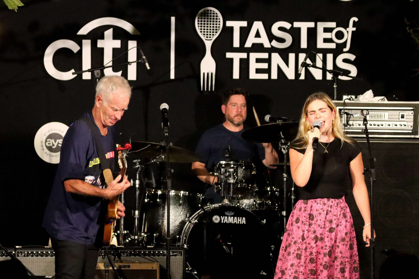 Taste of Tennis - John and Ava McEnroe Singing at Tavern on the Green