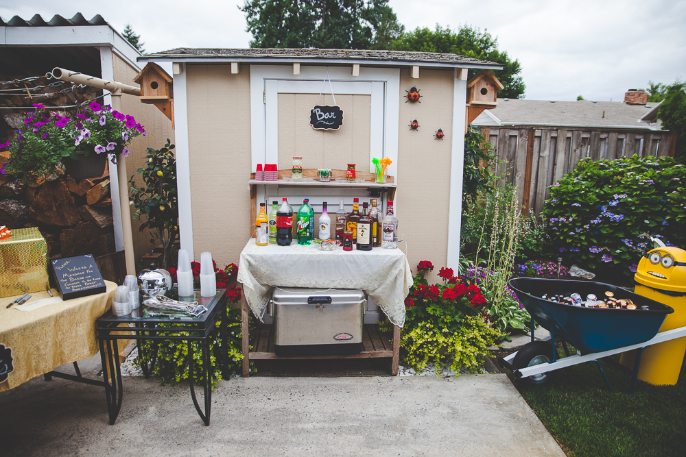 Backyard BBQ Wedding Offbeat and alternative wedding photographer