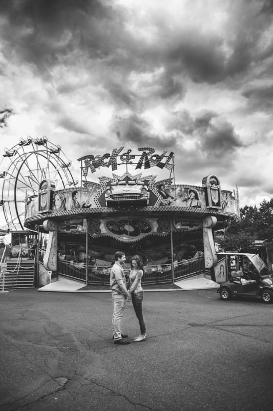 Aimee + Garin's Oaks Amusement Park Engagement