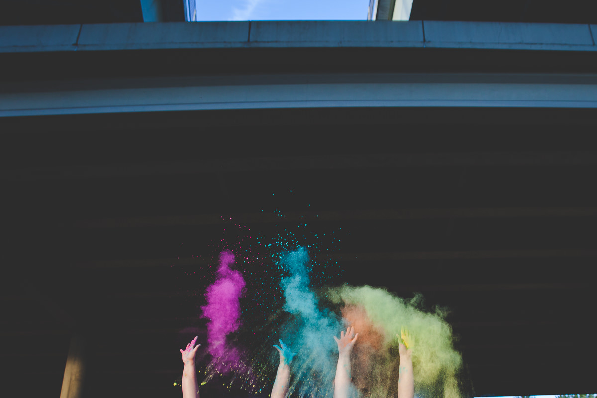 Jessica + Natalie's Colorful Powder Engagement