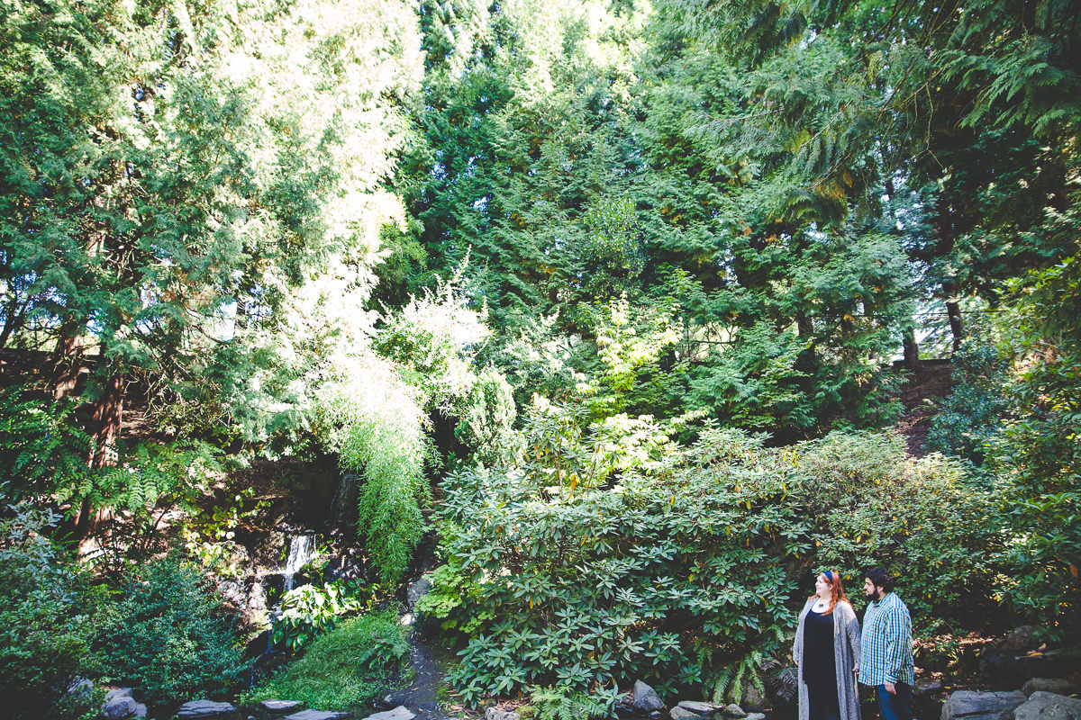 Kat + Luciano Crystal Springs Rhododendron Garden Engagement