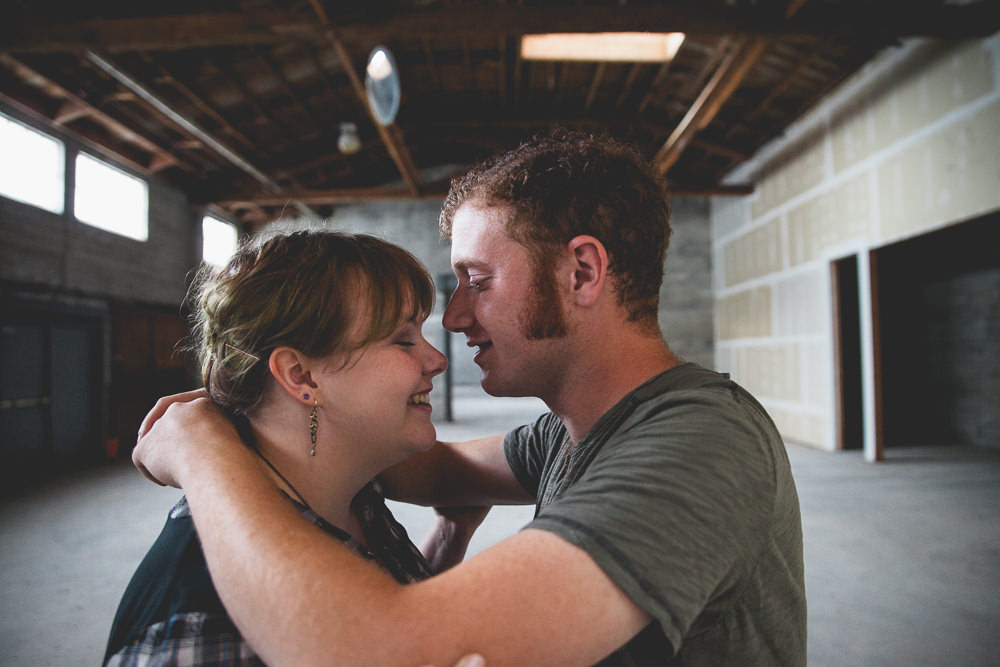 Sarah + Jesse Warehouse Engagement Photos