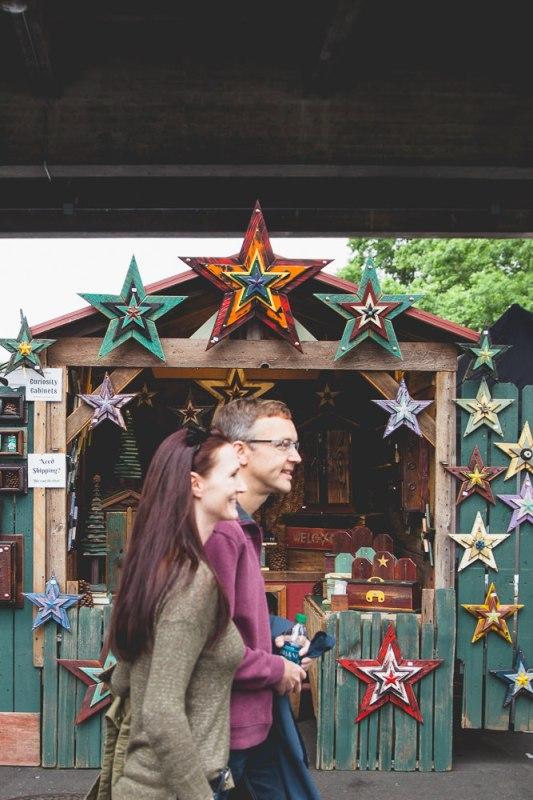 Nicole + Scott Portland Saturday Market Engagement