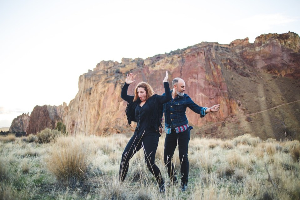 Cait + Cameron's Smith Rock Engagement Shoot