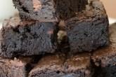 Dark Chocolate Fudge Brownies   Twisted Tastes