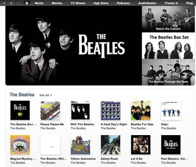 Beatles in iTunes