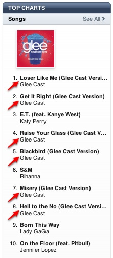 Glee in iTunes