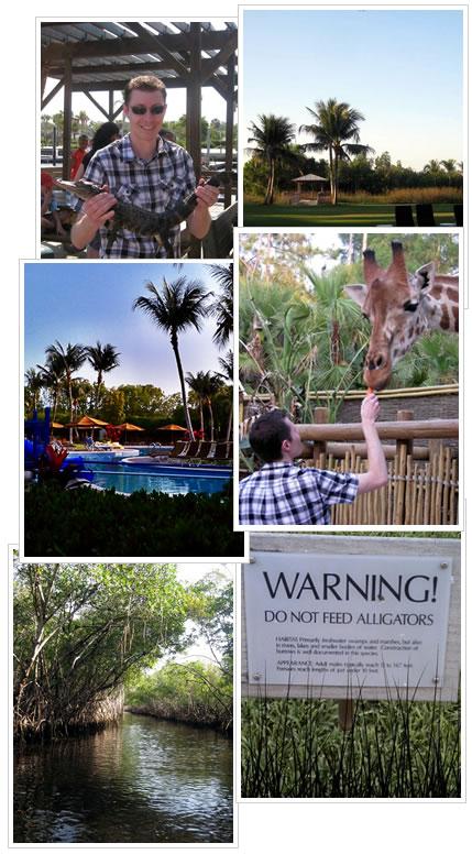 Alligators, giraffes, food and a good vacation.