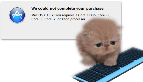 Lion. Why you no like my computer?