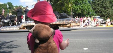 Lily enjoying the parade.