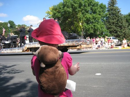 Lily enjoying the parade.