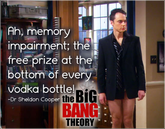 There is a free prize at the bottom of every bottle of vodka.