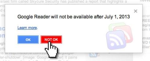 Google Reader - Not OK