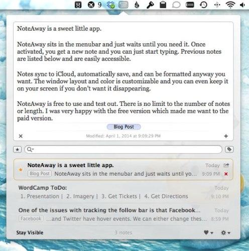 NoteAway ScreenShot