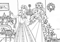 frozen christmas coloring pages Frozen Christmas Coloring Pages frozen christmas coloring pages