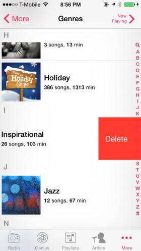 Delete iTunes Music
