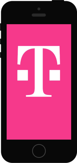 T-Mobile logo on an iPhone screen.