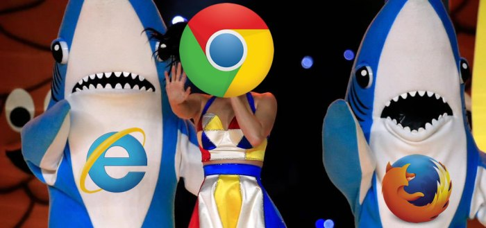 Super Bowl Sharks as Browsers