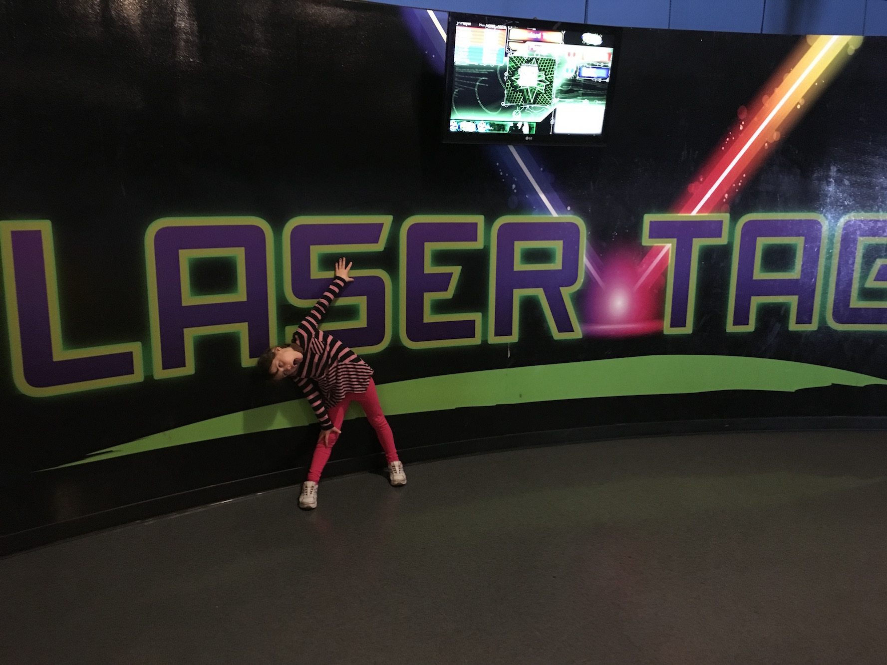 Lily's fun Laser Tag photo.