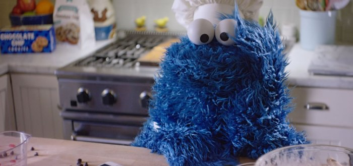 Cookie Monster waiting for cookies to be done.