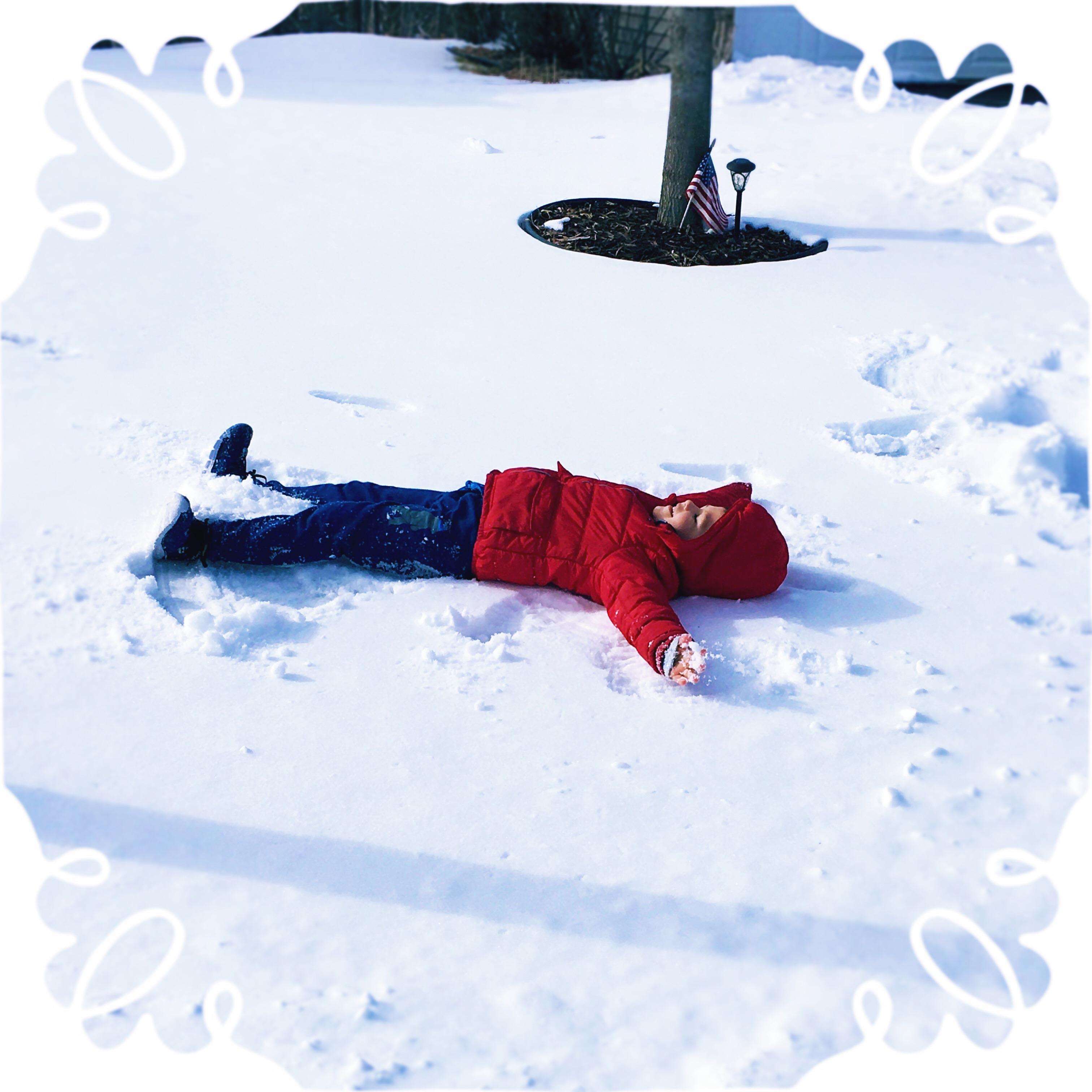 Making Snow Angles